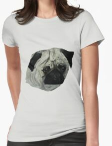 Pug Dog Fine Art Contemporary Acrylic Painting Womens Fitted T-Shirt