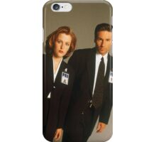 Dana Scully Fox Mulder X Files Gillian Anderson David Duchovny  iPhone Case/Skin