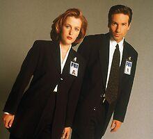 Dana Scully Fox Mulder X Files Gillian Anderson David Duchovny  by LordGloria