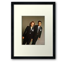 Dana Scully Fox Mulder X Files Gillian Anderson David Duchovny  Framed Print