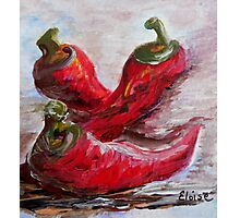 Poppin' Peppers Photographic Print
