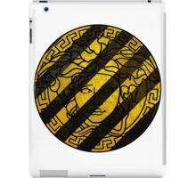 Black and yellow Versace iPad Case/Skin