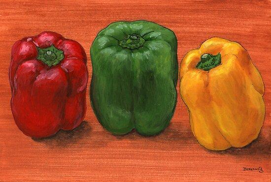 Bell Pepper Trio  by bernzweig