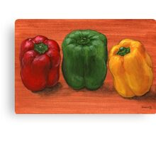 Bell Pepper Trio  Canvas Print