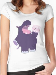 A very hungry hippo Women's Fitted Scoop T-Shirt