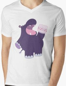 A very hungry hippo Mens V-Neck T-Shirt