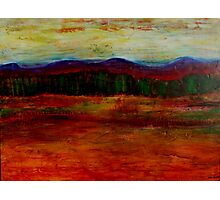 The view from the terrace, mixed media on board Photographic Print