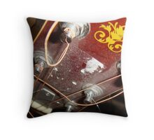 Broken Strings Throw Pillow