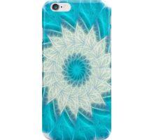 Cyan Glow Kaleidoscope 10 iPhone Case/Skin