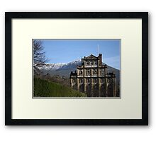 Cascade Brewery with snow on Mount Wellington Framed Print