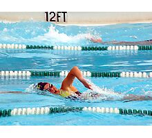 """""""Girl Power"""" Freestyle Swimmer SHS La Habra, CA All Rights Reserved Hedger Photography Photographic Print"""