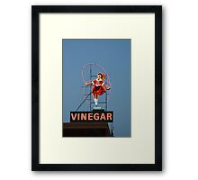 skipping girl 7 Framed Print