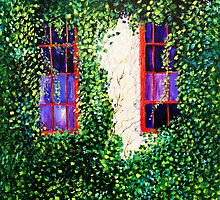 Red Windows SOLD by Deborah Glasgow