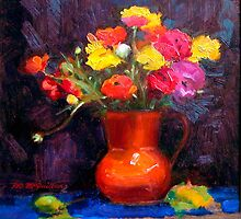 Still Life ~ The Orange Vase by Roz McQuillan