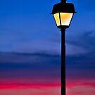 Sunset Lamp Post by Kenneth Keifer