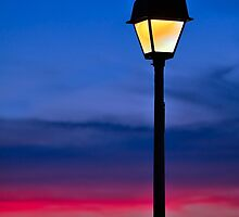 Sunset Lamp Post by Kenneth Keifer