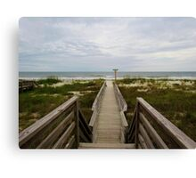 Beach Entrance Canvas Print