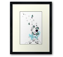 Playing in the Garden Framed Print