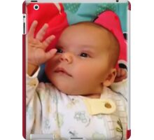 HELLO..REDBUBBLE ...MY NAME IS RIVEN AND I'M WAVING SAYING HELLO TO YOU ALL HUGS iPad Case/Skin
