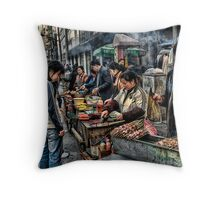 Street Food Throw Pillow