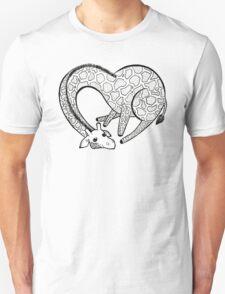 Loving Longhorse - Black & White Unisex T-Shirt