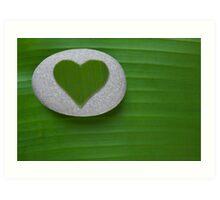 Green Hearted Art Print
