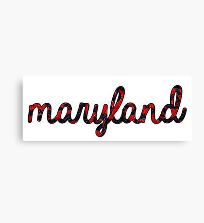 Maryland Tie Dye Canvas Print