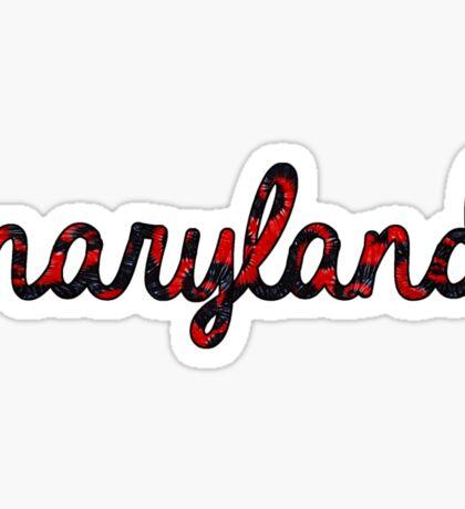 Maryland Tie Dye Sticker
