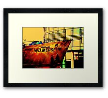 Dredger & New BBC Building Framed Print