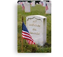 Unknown Hero on Memorial Day Canvas Print