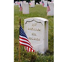 Unknown Hero on Memorial Day Photographic Print