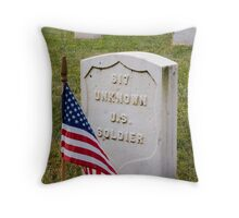 Unknown Hero on Memorial Day Throw Pillow