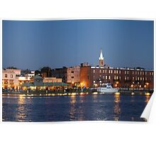 Wilmington At Night Poster