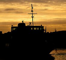 Golden Sky For Ferry by Stan Owen