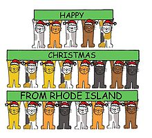 Cats in Santa hats Happy Christmas from Rhode Island. by KateTaylor