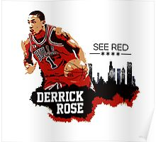 Derrick Rose - See Red Poster
