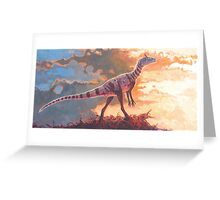 A Scent in the Wind - Cryolophosaurus Greeting Card