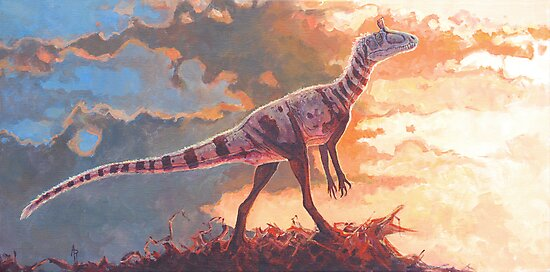 A Scent in the Wind - Cryolophosaurus by Angie Rodrigues