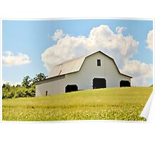 Large White Barn Poster
