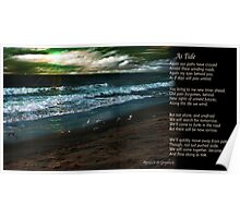 As Tide (with Poem) Poster