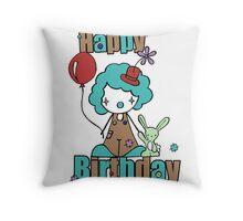 Clowny  Throw Pillow