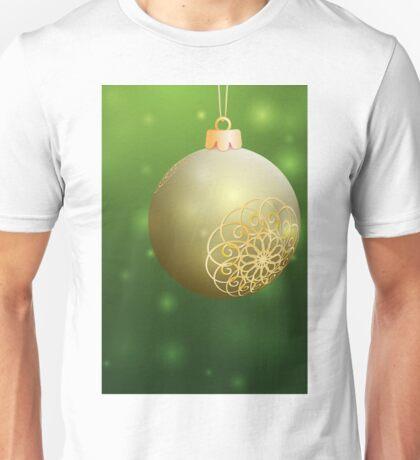 Christmas Ball with Golden decor Unisex T-Shirt