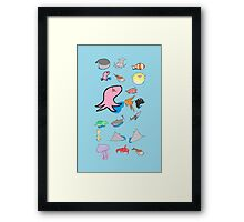 Collage of Animals - Phone Arrangement Framed Print