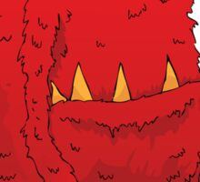 red monster Sticker