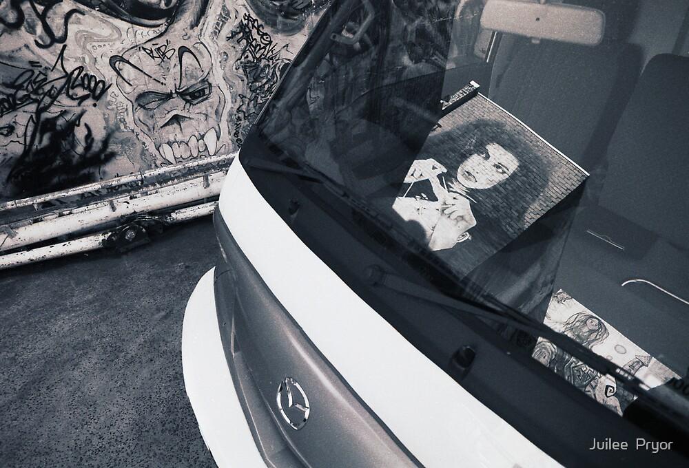 graffitti mirrored by Juilee  Pryor