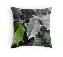 Season's Greetings To Brighten Your Day Throw Pillow