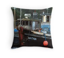 Fading Tug Boats Throw Pillow
