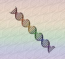 LGBT Pride Rainbow DNA  by LiveLoudGraphic