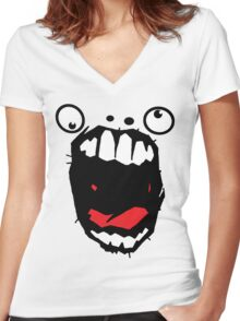Hey Big Mouth Women's Fitted V-Neck T-Shirt