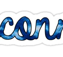 Uconn Tie Dye Sticker